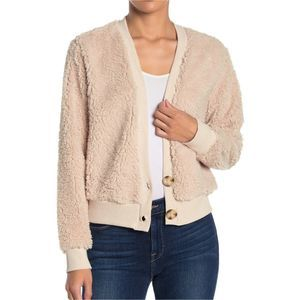 Socialite Faux Shearling Button front Cardigan